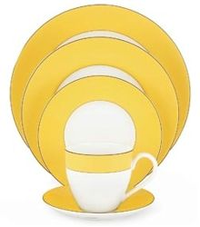 Discontinued Lenox Rutherford Circle Yellow Dinnerware by Kate Spade