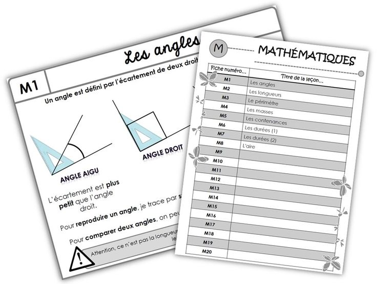 Leçons de maths CM1. Excellent