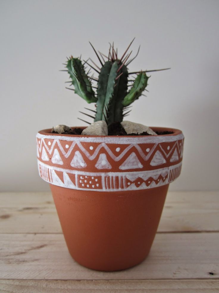 113 best macetas images on pinterest | paint pots, flower pots and
