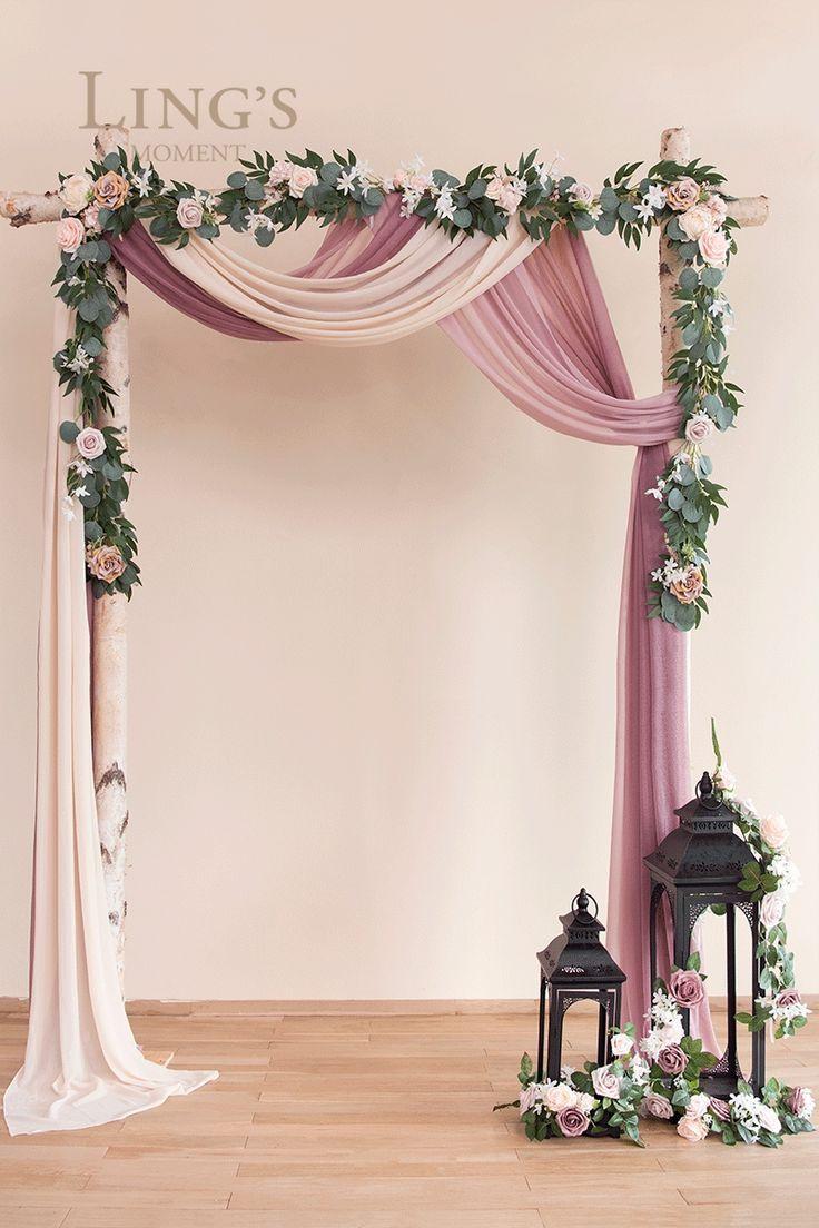 Romantic Weddings Backdrop Wedding Favors In 2020 Vintage Wedding Decorations Wedding Arch Diy Wedding Backdrop