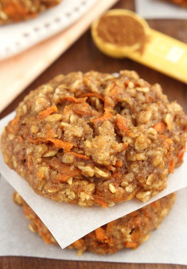 Receita saudável de Cookie de cenoura e aveia. Saiba como fazer uma receita Fit como opção de lanchinho.