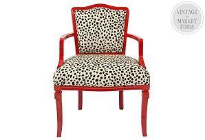 Ibiza Arm Chair, Leopard Print