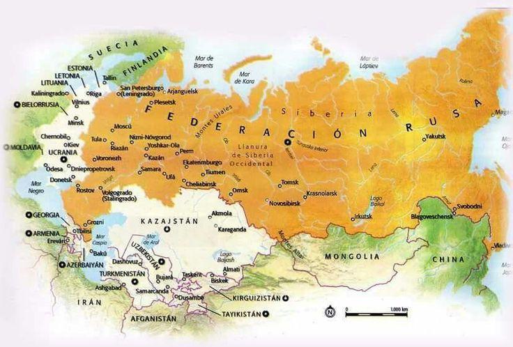 La mapa de Rusia - el país más grande del mundo