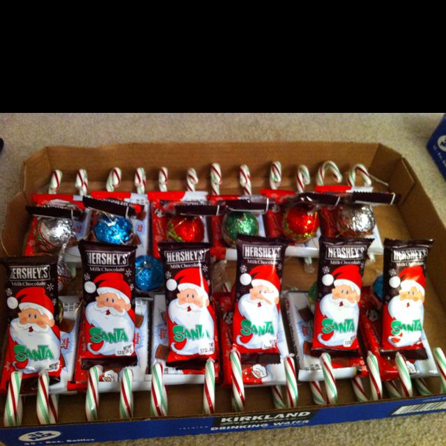 Candy sleighs :) gifts for kids' classmates