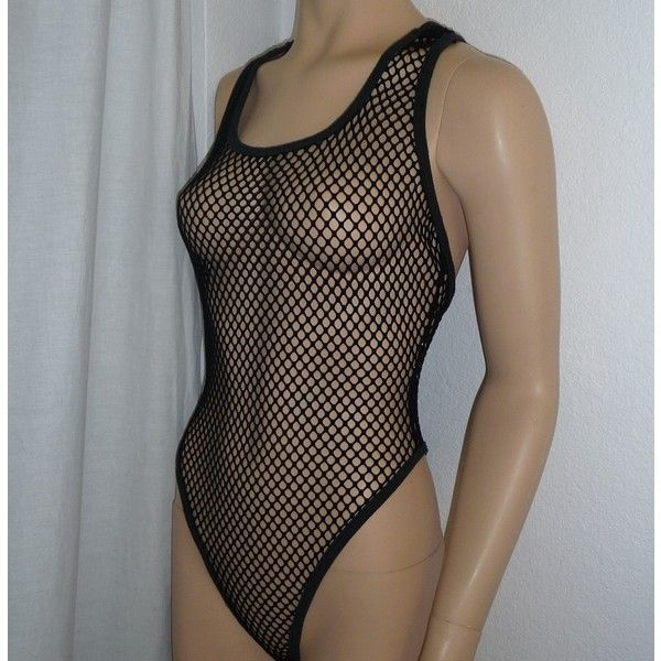 80's Betsey Johnson MESH fishnet bodysuit ❤ liked on Polyvore featuring intimates and shapewear