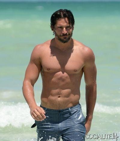 Shirtless Joe Manganiello Hits The Beach In Miami