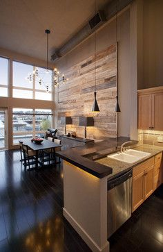 Classic cool Downtown loft - contemporary - dining room - seattle - Habitations Interior Design