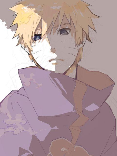 Naruto in Akatsuki.
