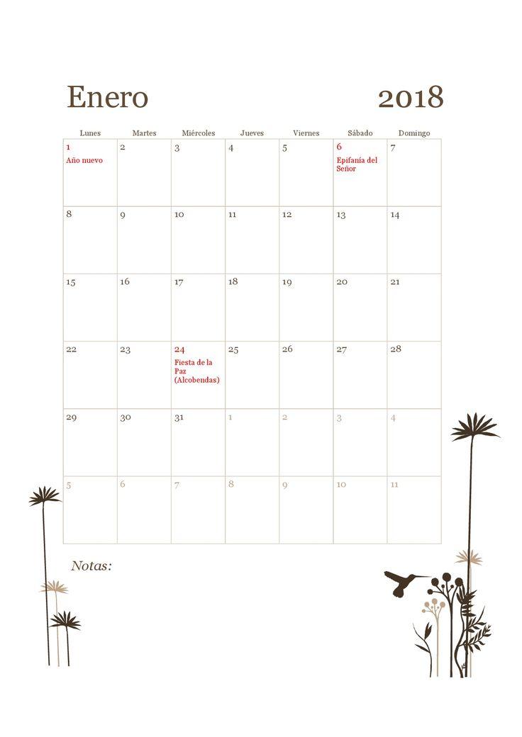 Ya puedes organizar tu 2018. Aquí tienes 15 plantillas del calendario laboral 2018 de Madrid para descargar e imprimir gratis.