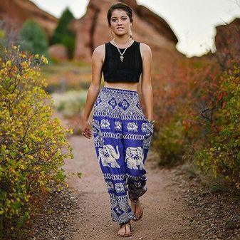 Use promocode SAMMART10 for 10% your entire order! Comfortable Harem Pants, Shorts, Bags, and More - The Elephant Pants! You guys these are the most comfy pants ever!!
