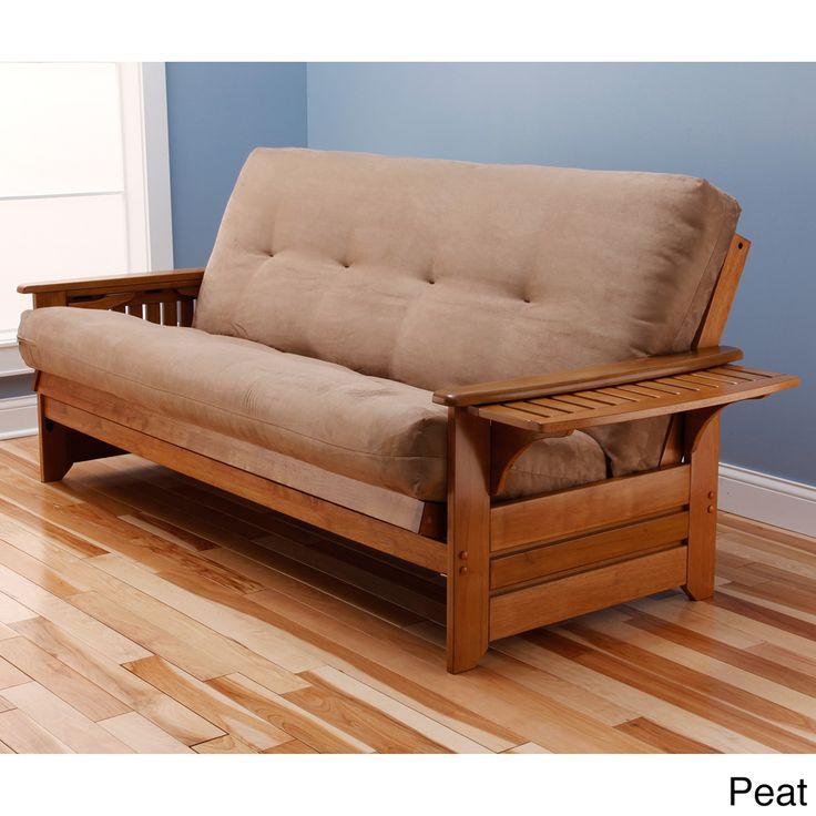 Ikea Sofa Bed Somette Ali Phonics Multi flex Honey Oak Full size Wood Futon Frame with Innerspring Suede Mattress by Somette Wood futon frame Futon frame and Mattress