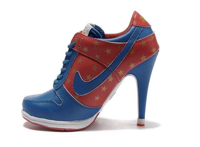 ca55448ac1c741 Nike Dunk Low Womens High Heels Quagmire Blue Red