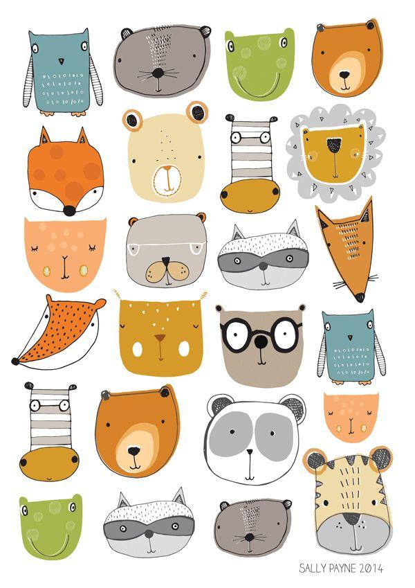 .papel de animales.