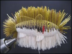 Half-Trimmed Bass by Mike George - Deer Hair Sculptures. Found on www.warmwaterflytyer.com