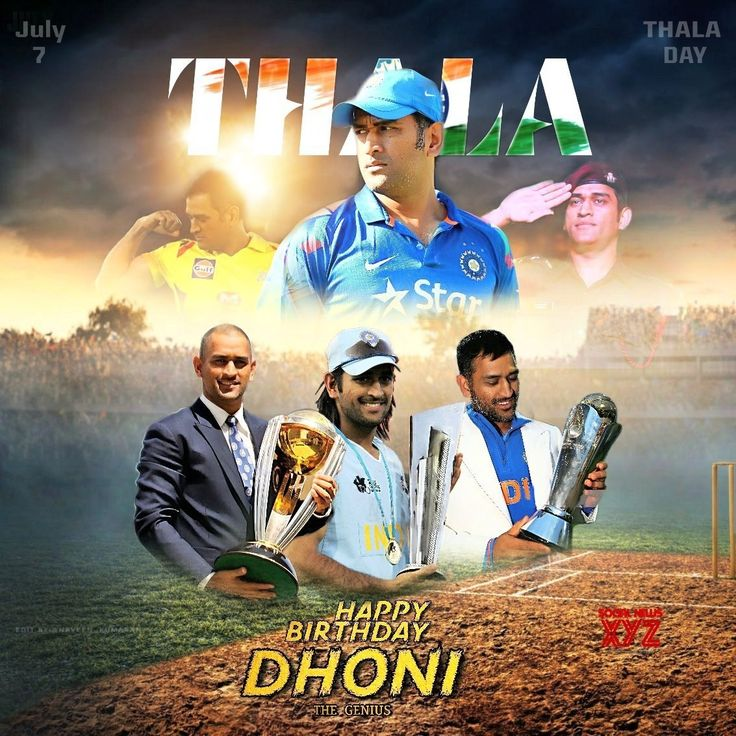 MS Dhoni Birthday 2019 Posters Social News XYZ in 2020