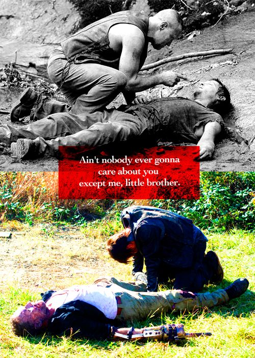 Nobody's EVER going to love their little brother more than Merle and Daryl Dixon!;)