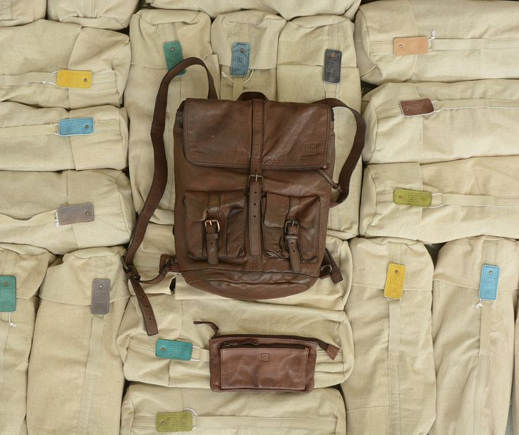 Timeless Collection | Backpack and wallet Cocoa brown