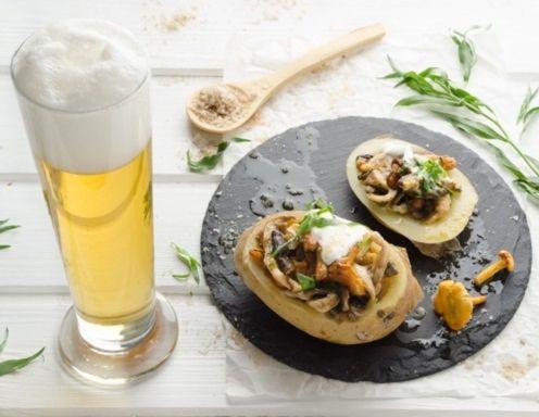 Ofenkartoffeln mit Schwammerlragout