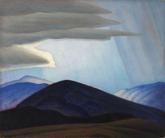 Lawren Harris - Sketch New Hampshire 15 x 18 Oil on board (1935)