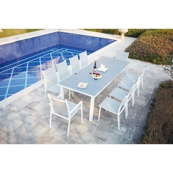 Salon de jardin extensible en aluminium 10 places - Achat ...