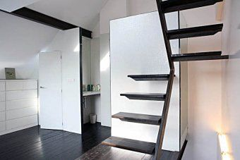 Small space stairs.