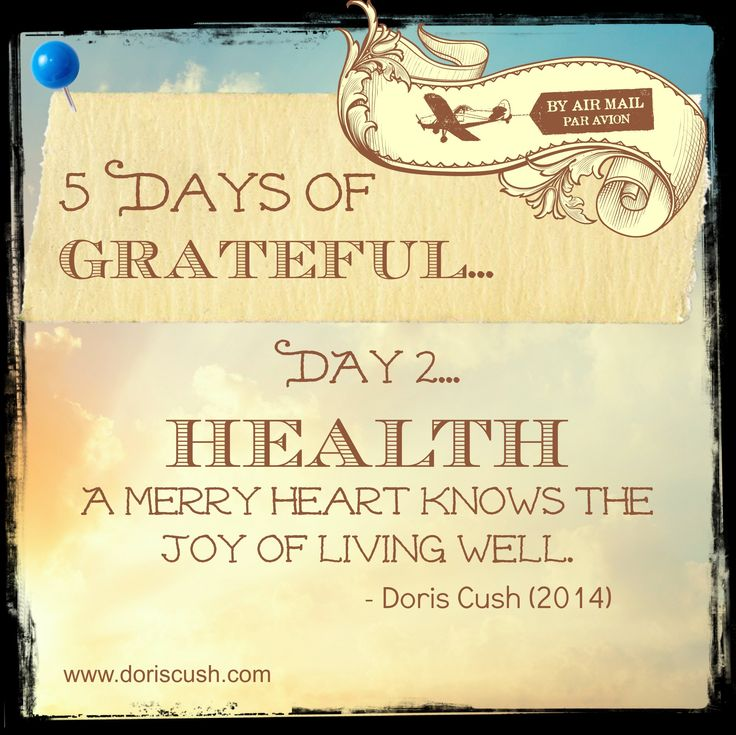 After breathe comes health. What are you GRATEFUL for?