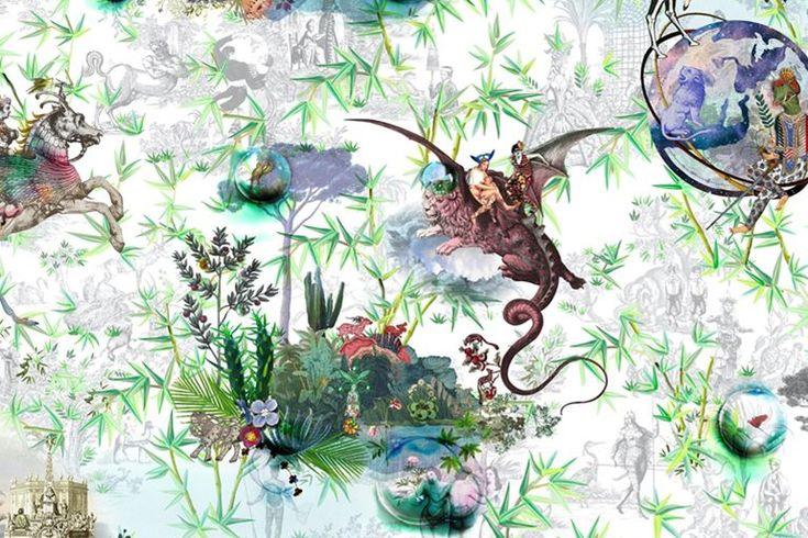 Fantasy wallpaper. Au theatre ce soir by Christian Lacroix. Designer Guild. Wirz Tapeten AG