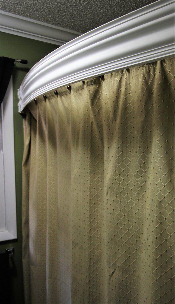 Shower Valance Curved Or Straight Bathroom Wall Decor Art Shower
