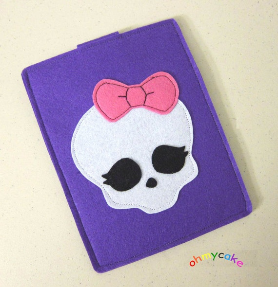 Handmade Felt Kindle Case - Kindle 3 Cover - Kindle Fire Case -
