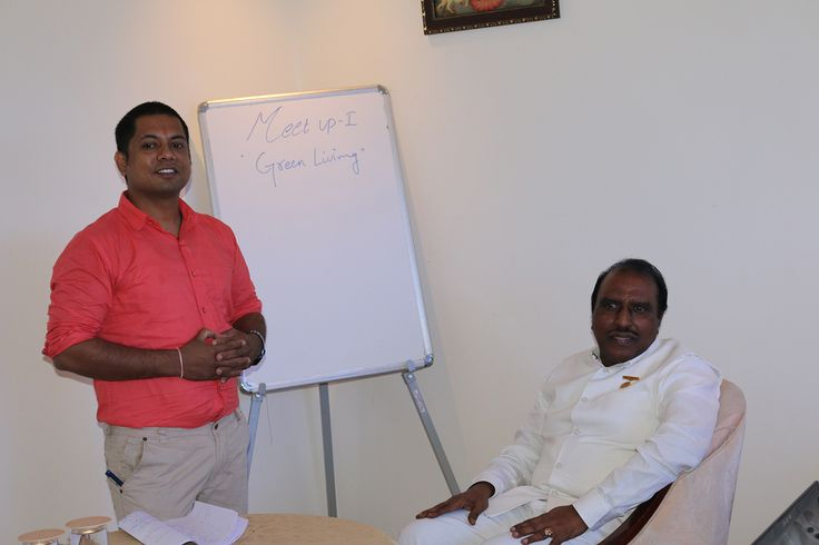 Dr. G.B.K. Rao and the Host Prakash Rao Sunkara during the Meet Up