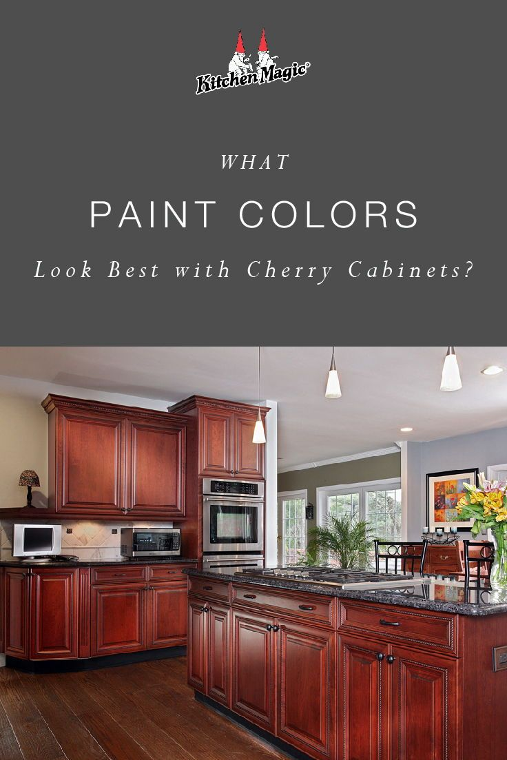 What Paint Colors Look Best With Cherry Cabinets Cherry Cabinets Kitchen Wall Color Cherry Wood Kitchen Cabinets Cherry Wood Cabinets