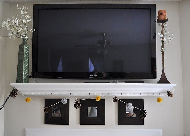 shelf under wall mounted tv for the home pinterest. Black Bedroom Furniture Sets. Home Design Ideas
