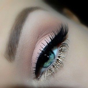 This pink and gold eyeshadow combo is gorgeous!