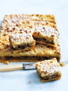 Donna Hay's apple crumble slice (try swapping sultanas for raspberries! )