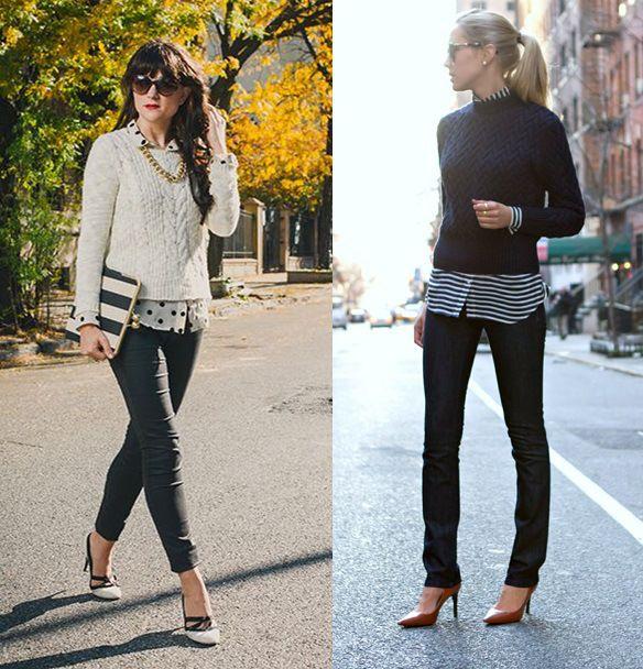 1_Look de Inverno_look de inverno para o trabalho_calça preta_sweater_blusa de lã e camisa