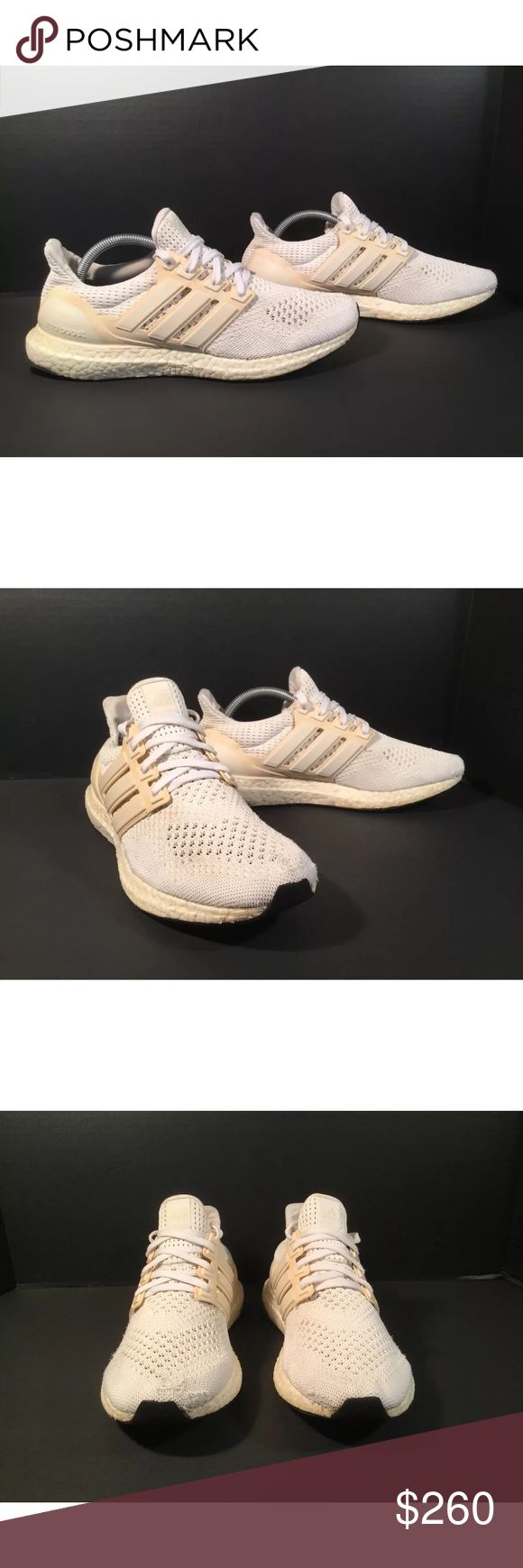 Sample adidas Ultra Boost 1.0 Item details:   -adidas brand  -in used condition, painted, discoloration, fraying and some wear, please refer to pictures  -sample ultra boost 1.0  -Size 9  -no insoles   All my shoes are 100% authentic. Buyer satisfaction is very important to me and I will always do my best to make sure you have a good experience when purchasing my items. I sell many hard to find, past season, and popular shoes at discount prices. If I have the box for the shoes, I always…