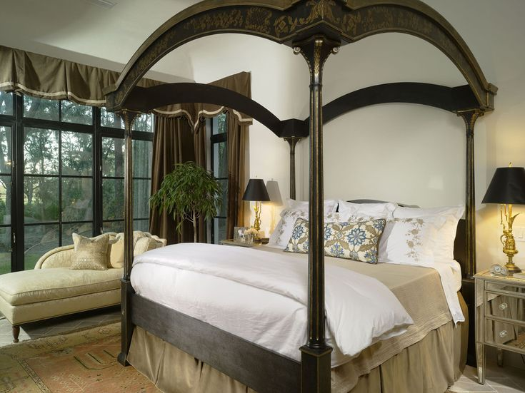 mission style bedding Bedroom Mediterranean with area rug bedside table
