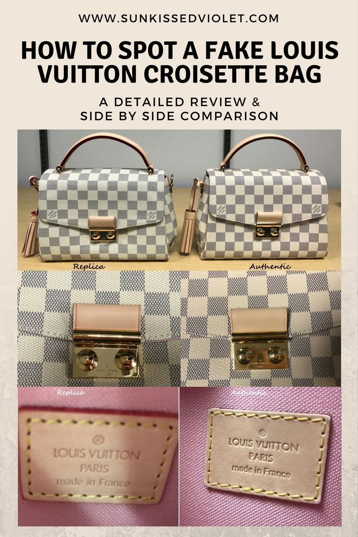 71931e4f27b5 How to spot a FAKE Louis Vuitton Croisette Bag  A Detailed Review   Side by  Side Comparison
