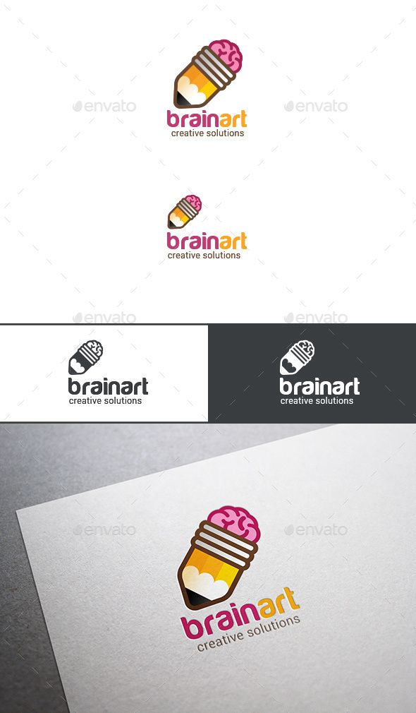 Logo Brain Pencil Brainstorm Ideas Template PSD, Vector EPS, AI. Download here: http://graphicriver.net/item/logo-brain-pencil-brainstorm-ideas/13685948?ref=ksioks