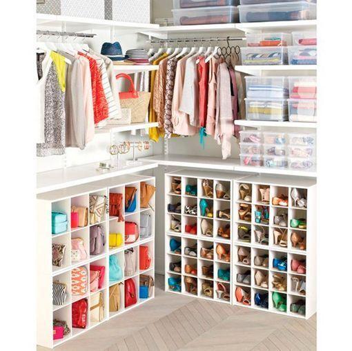 Armarios y sistemas de almacenaje para los zapatos y los bolsos