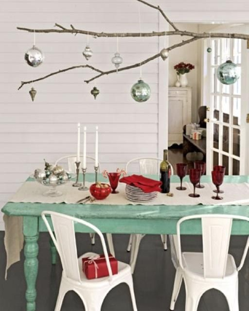 Beautiful display for hanging ornaments.   Could also be for selling ornaments or small lights... Sweet Paul's Hanging Ornament Branch