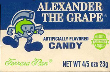 Alexander the Grape. Ferrara Pan has the best candy box art.