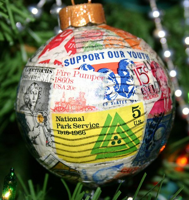 Dozens of genuine antique and vintage stamps wrap around this glass ornament, some of them are over 70 years old! The ornament is protected with several coats of durable clear sealer, so you'll be able to cherish this collectable ornament for holiday stampcollecting    Please Help Me Out   Checkout some ads   only if they interest you.   Thanks For Click on the   stampcollecting.forallup.com