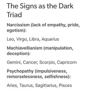 Aquarius ♒; I admit it, there are times where I view myself as a god. And I definitely lack empathy for certain people/situations