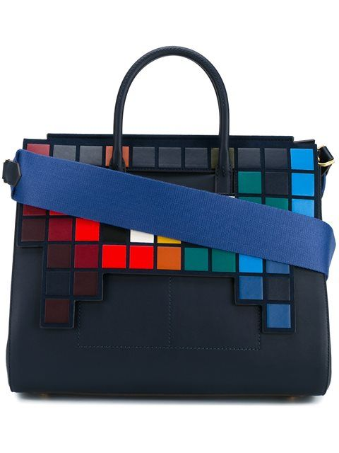 ANYA HINDMARCH Space Invaders Tote. #anyahindmarch #bags #shoulder bags #hand bags #suede #tote #cotton #