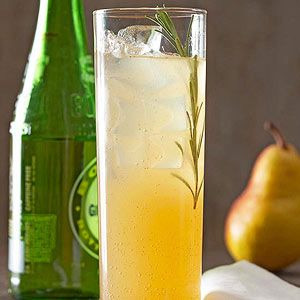Pear Sparkler: The light flavor of pear nectar is jazzed up with the delightful, herbal flavor of rosemary and the zing of ginger ale. /