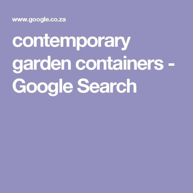 contemporary garden containers - Google Search