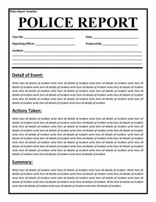 Download police report template 03 tan Pinterest Template - Summary Report Template