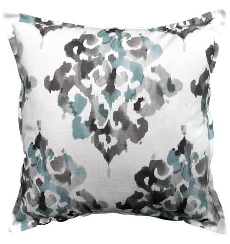 Ikat - Charcoal cushion