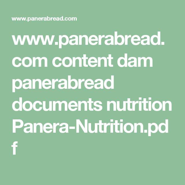 www.panerabread.com content dam panerabread documents nutrition Panera-Nutrition.pdf
